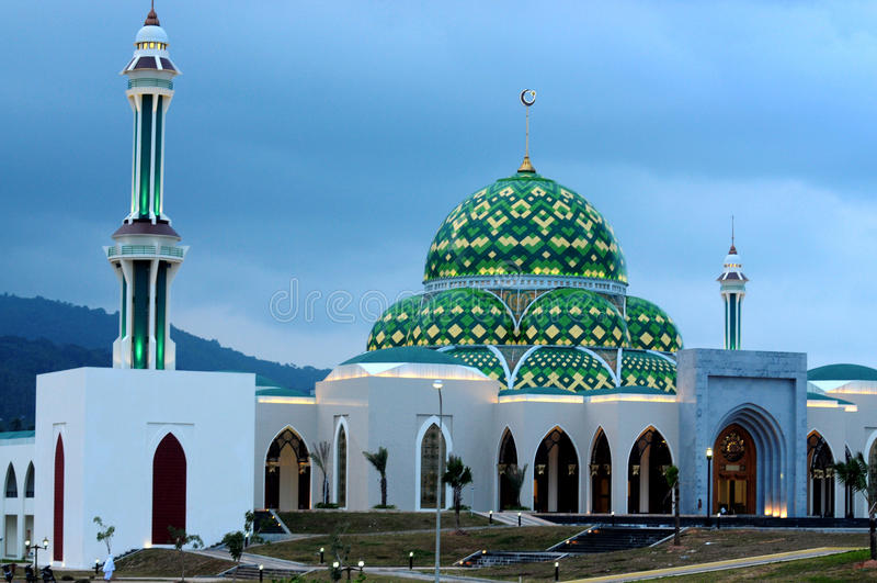 Mosque in Natuna Island. Riau islands province (Kepri), Indonesia royalty free stock photography