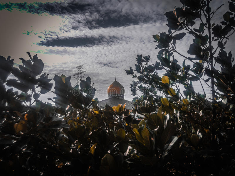 Mosque and Nature royalty free stock photography