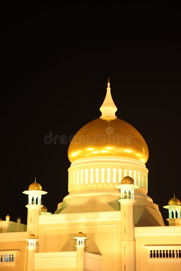 Mosque at night royalty free stock image