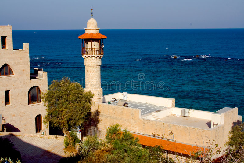 Mosque in Old Jaffa stock photography