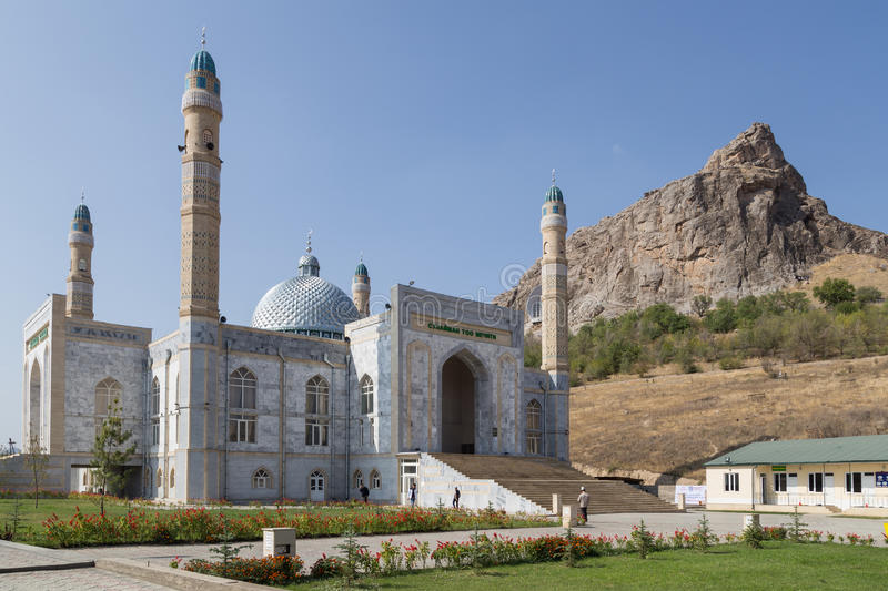 Mosque in Osh, Kyrgyzstan stock photography