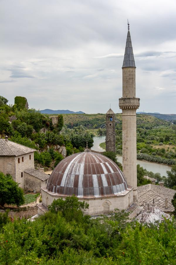Mosque in Pocitelj, Bosnia and Herzegovina royalty free stock photos
