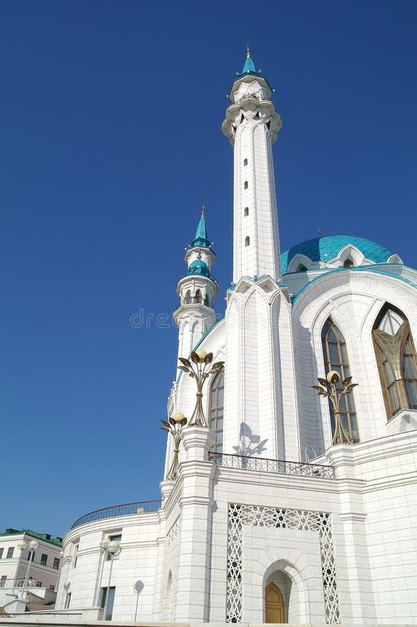 Mosque of QolÅŸarif. Kazan. The territory of the Kazan Kremlin. Islamic shrine reconstructed QolÅŸarif Mosque royalty free stock images