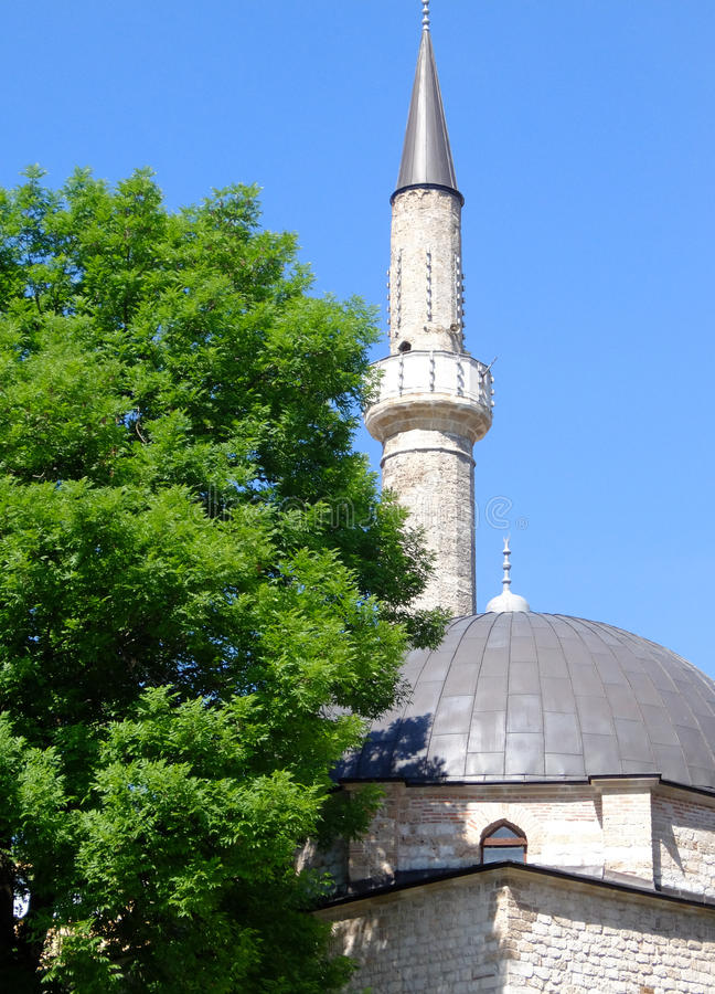 Mosque in Sarajevo. Mosque in the old town of Sarajevo. Bosnia and Herzegovina royalty free stock image