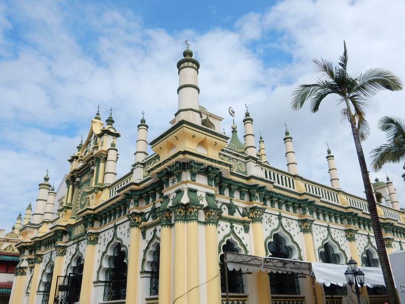 A mosque in Singapore. A pretty mosque in the Kampong Glam quarter in Singapore stock photos