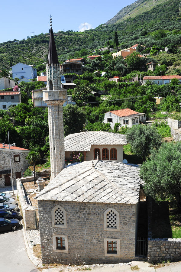 The mosque of Stari Bar. On Montenegro stock photo