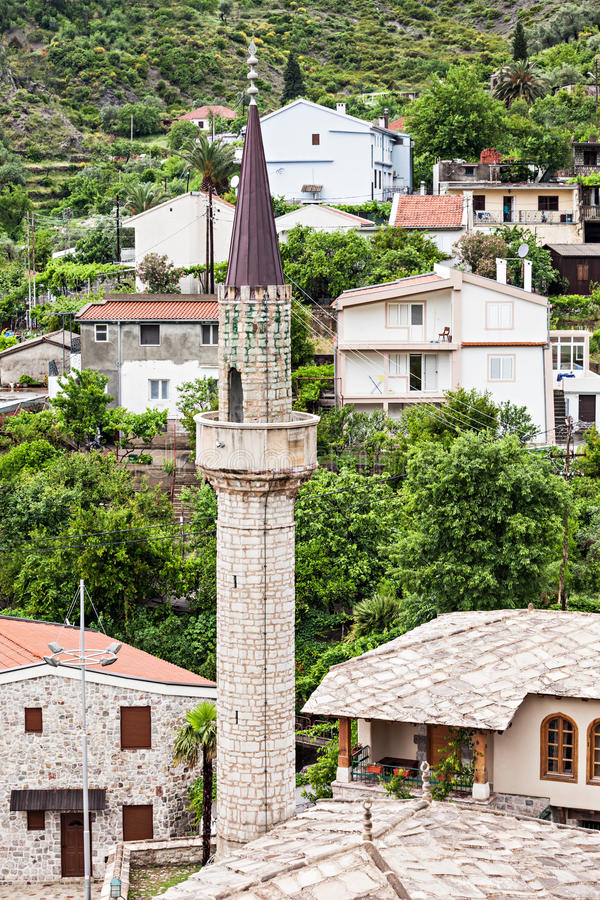 Mosque in Stari Grad. (Old Town), Bar in Montenegro royalty free stock image