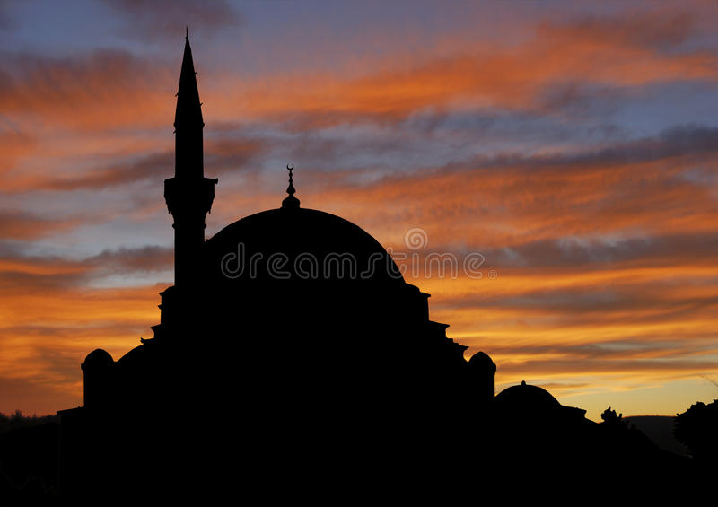 Download Mosque at sunset stock image. Image of silhouette, travel - 17895941