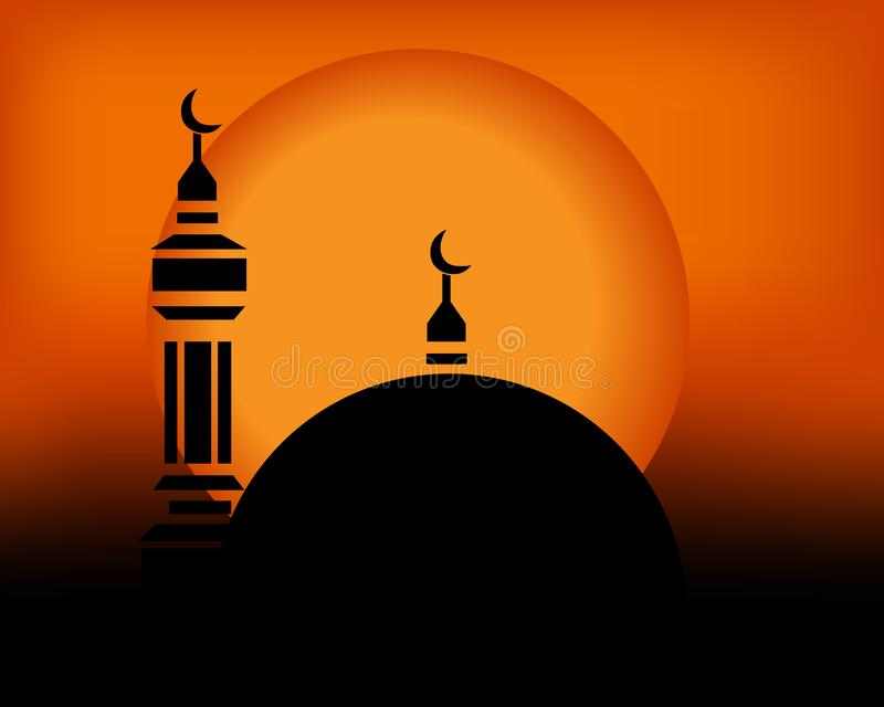 Mosque in the sunset stock photos
