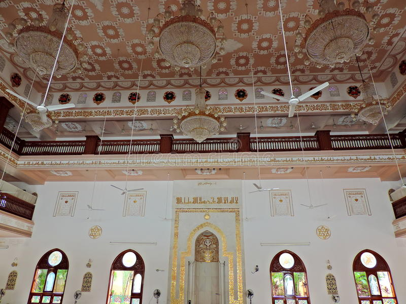 Mosque in Surat. People from the Dawoodi Bohra community residing in Surat, India visit the mosque for daily prayers as well as for religious sermons on various royalty free stock images