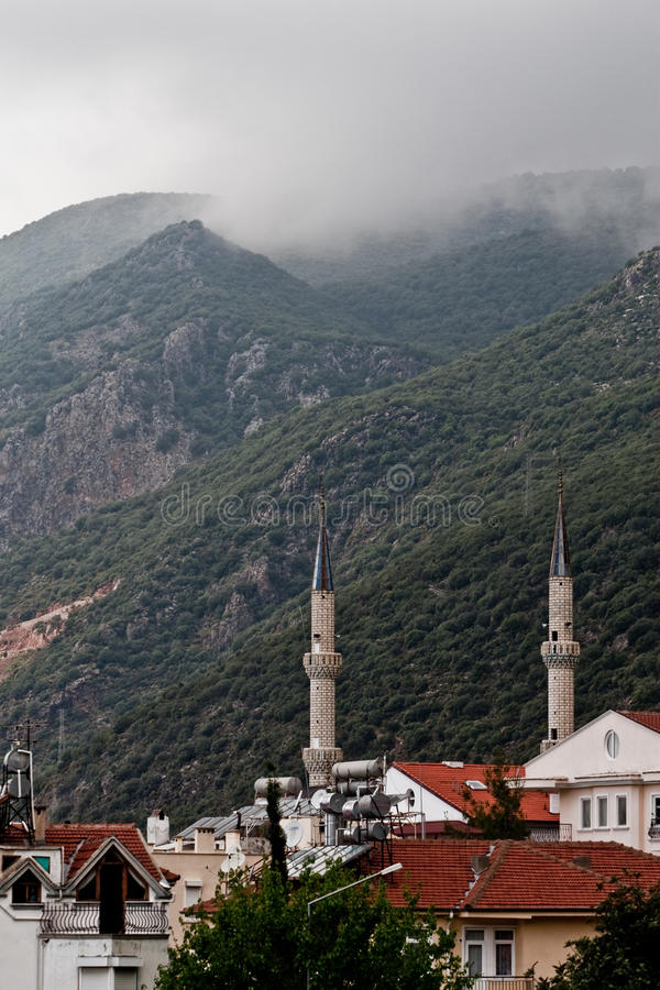 Mosque towers stock image