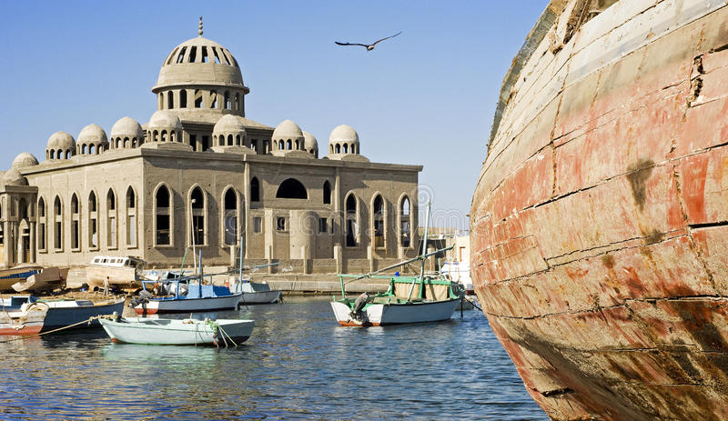Download Mosque Under Construction In Fishing Port Stock Photography - Image: 12415332