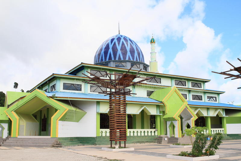 Mosque in Waisai. New muslim mosque in Waisai on island Waigeo (Raja Ampat, Papua Barat, Indonesia stock images