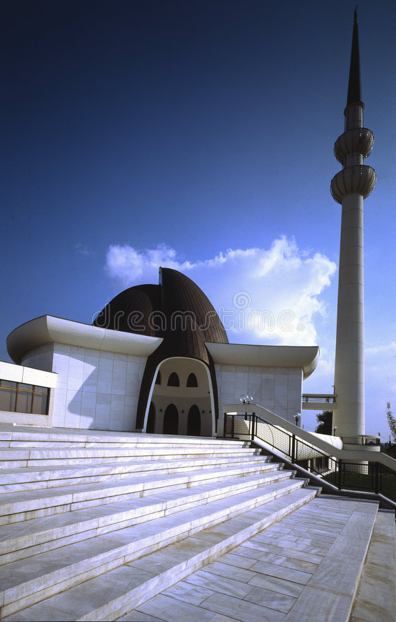 Mosque in Zagreb stock photo