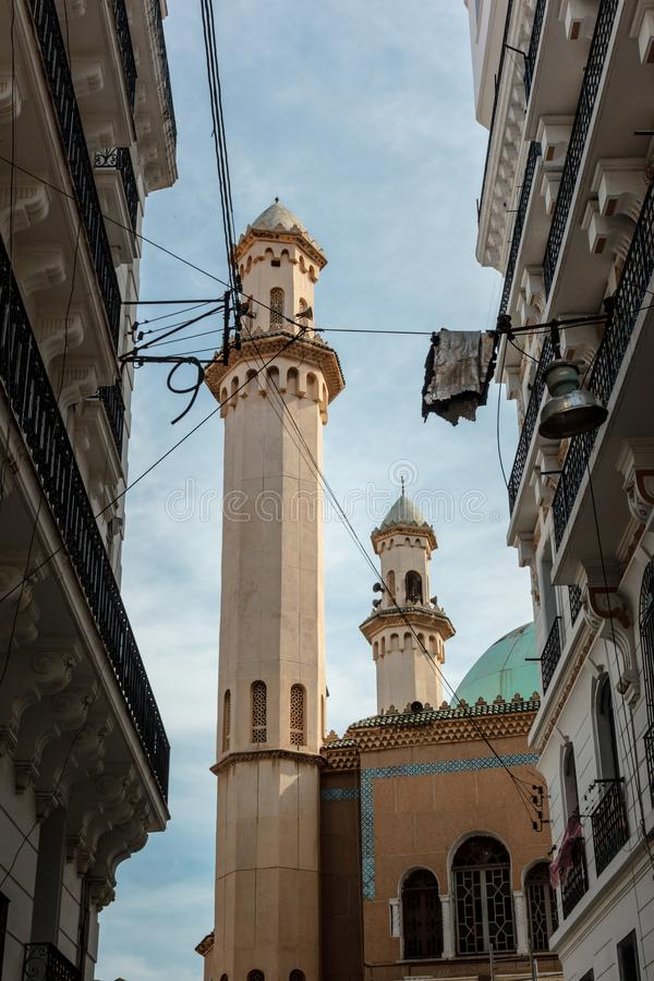 Mosquee in Algiers city center stock image