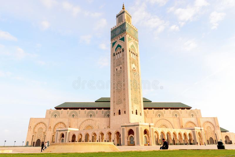 Mosquee grande Hassan II immagine stock libera da diritti