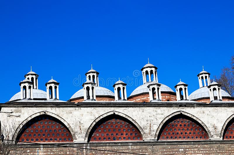 Mosques and Blue Sky royalty free stock photo