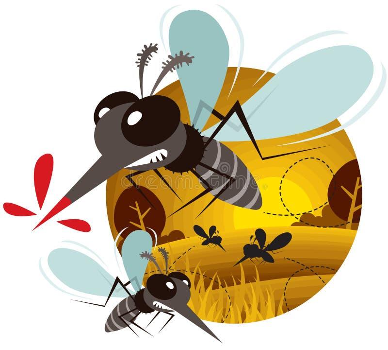 mosquito ilustração do vetor