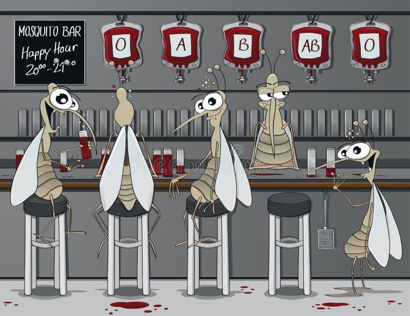 The mosquito bar stock illustration