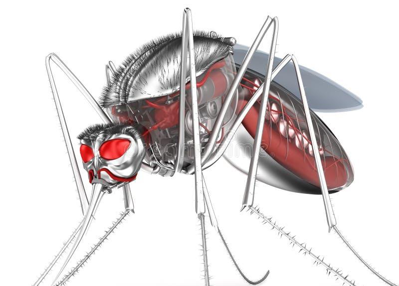 mosquito Bloodsucker de la robusteza Aislado en blanco stock de ilustración