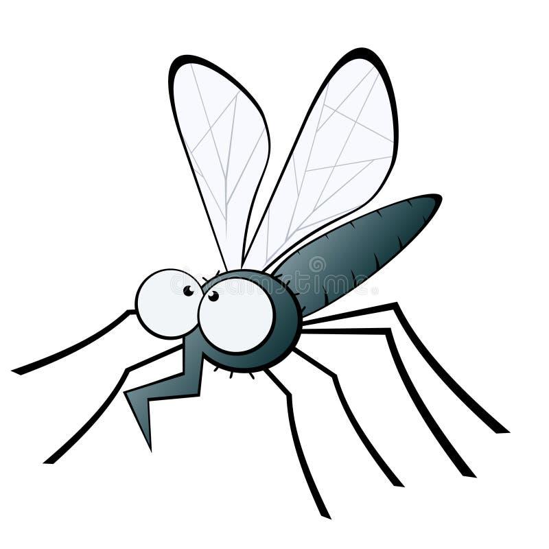 Mosquito com proboscis curvado ilustração royalty free