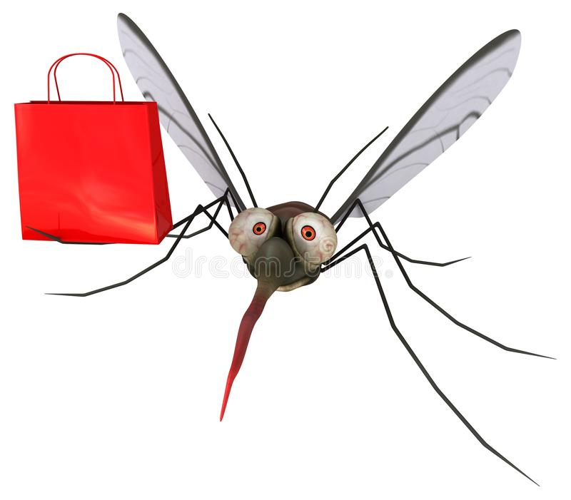 Mosquito - 3D Illustration vector illustration