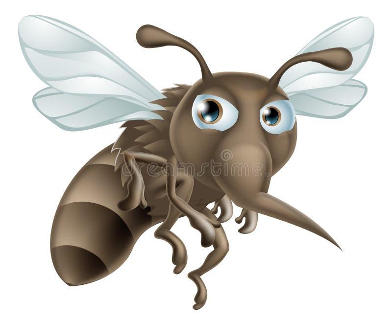 Mosquito dos desenhos animados ilustração stock
