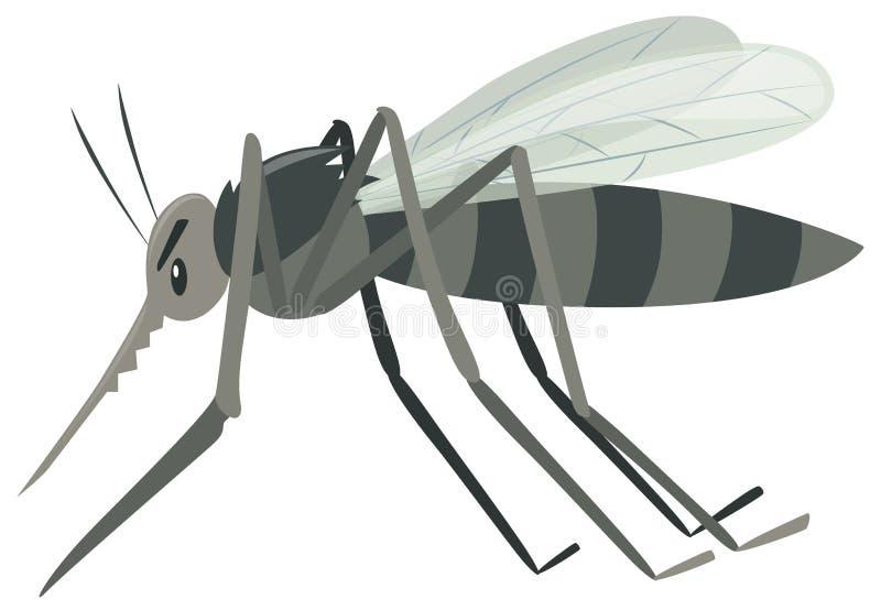 Mosquito en el fondo blanco libre illustration