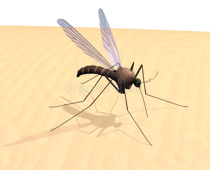 Mosquito na pele ilustração stock