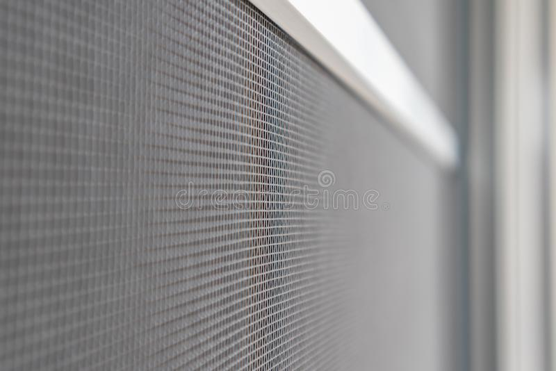 Mosquito net wire screen on house window protection. Against insect royalty free stock photography