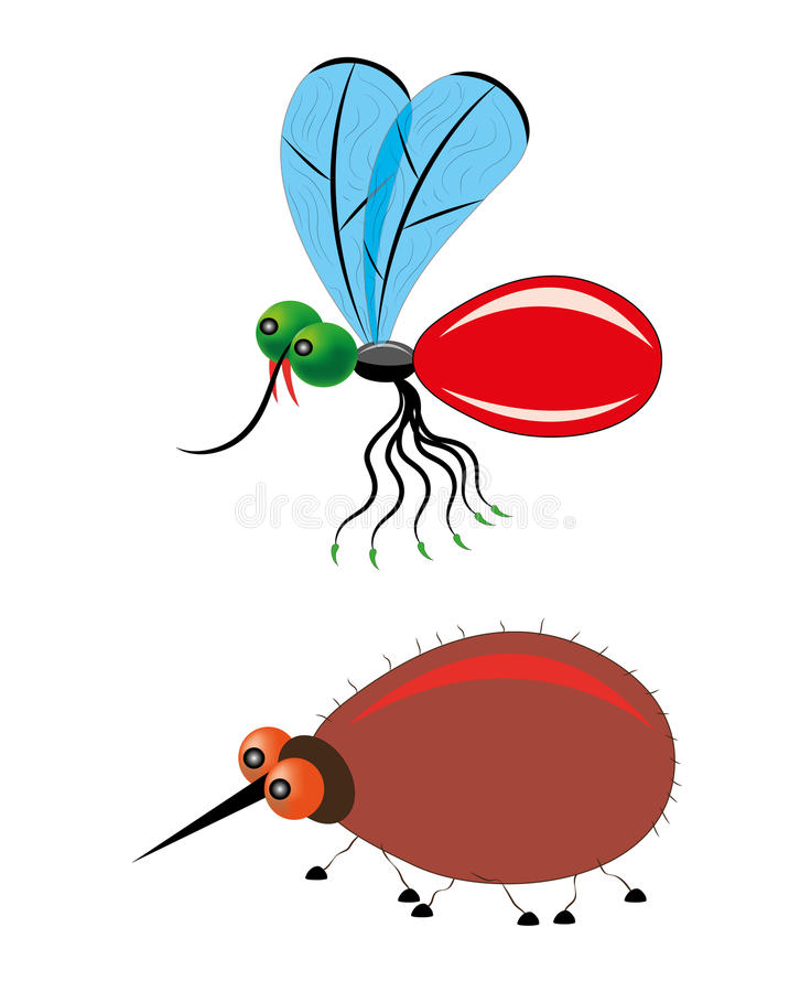 Download Mosquito and tick stock vector. Illustration of summer - 29185778