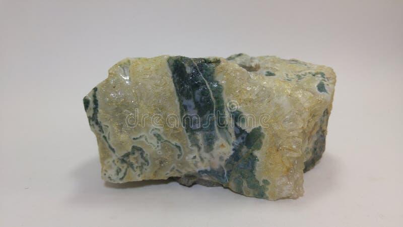 Moss Agate naturlig sten royaltyfria bilder