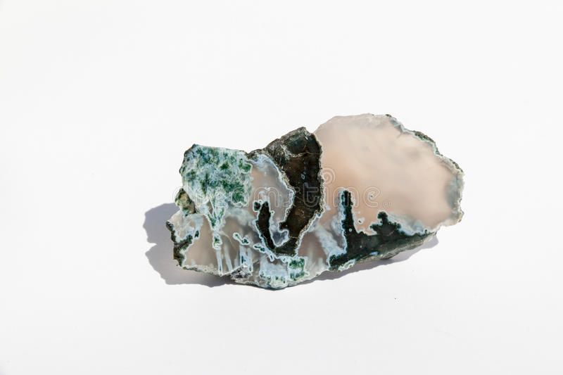 Moss agate. Polished moss agate from Bulgaria royalty free stock photos