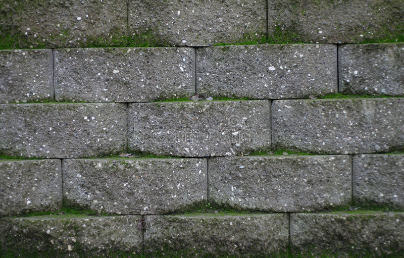 Moss Bricks stock photos