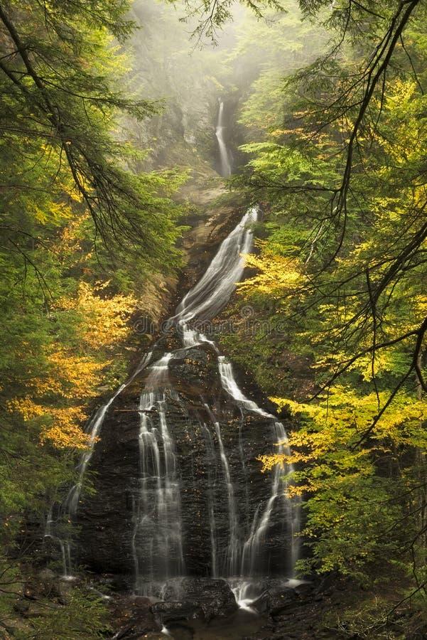 Moss Glen Falls in autumn royalty free stock image