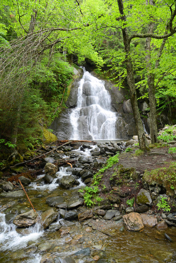 Moss Glen Falls, Vermont, EUA fotos de stock royalty free