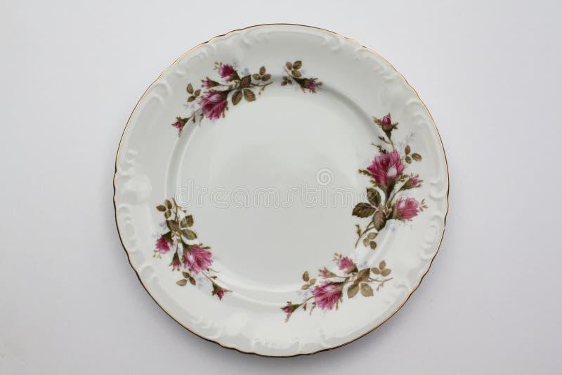 Download Moss Rose Plate stock photo. Image of dinner, dinnerware - 19787302