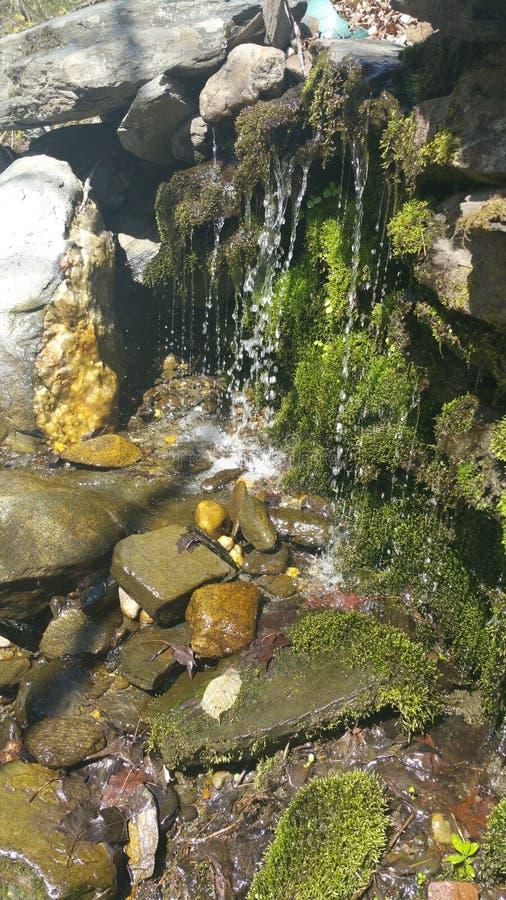 Mossy καταρράκτες στους βράχους στοκ εικόνες με δικαίωμα ελεύθερης χρήσης