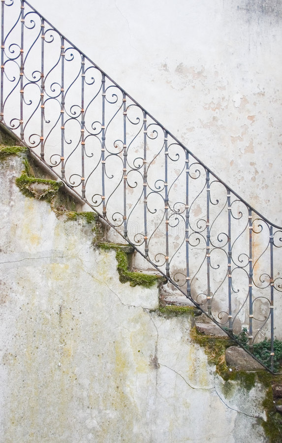 Mossy stairway royalty free stock photo