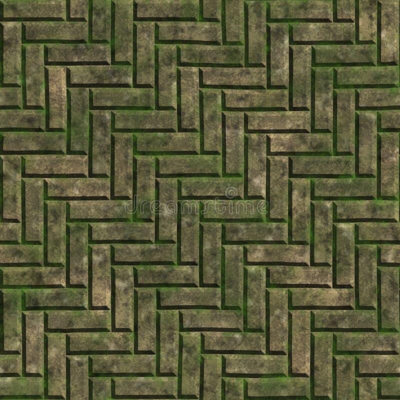 Download Mossy stone stock illustration. Image of lichen, dappled - 25838245