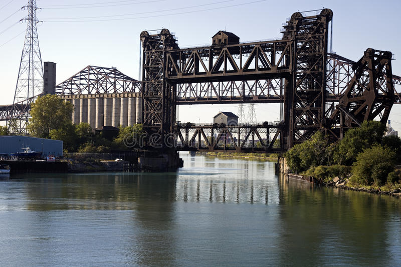 mostów Chicago boczni południe zdjęcia stock
