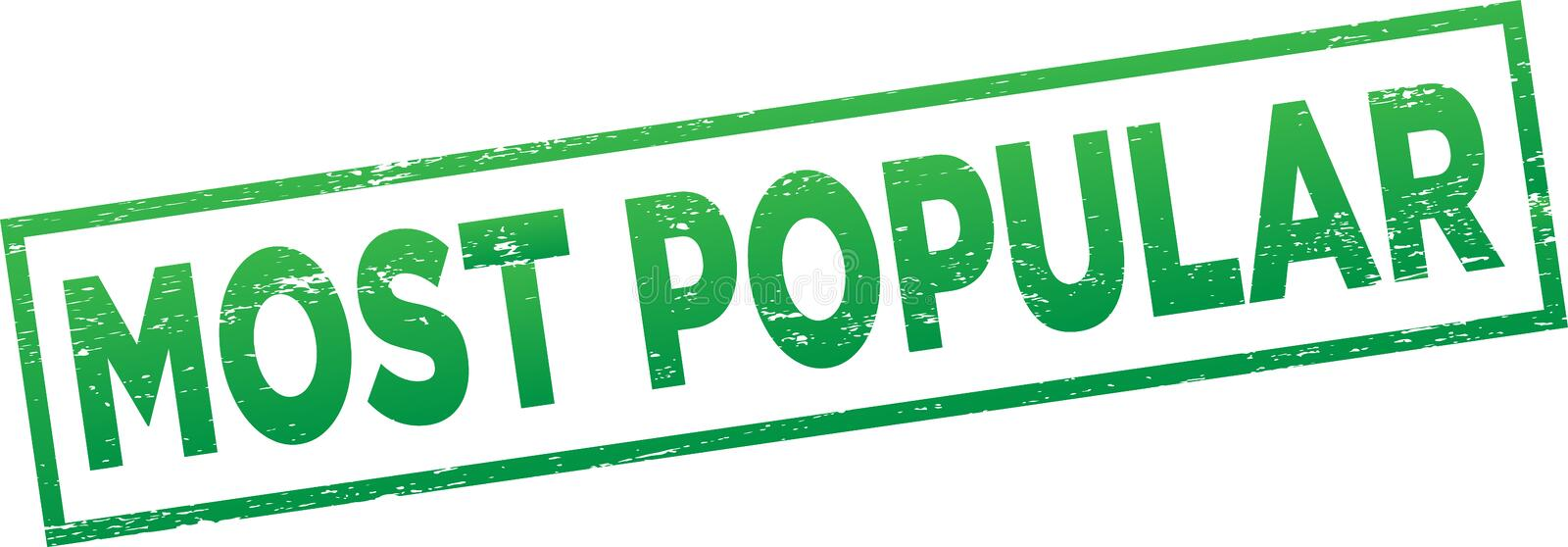Most popular stamp. Editable vector illustration - most popular text grunge stamp sign - isolated white background royalty free illustration
