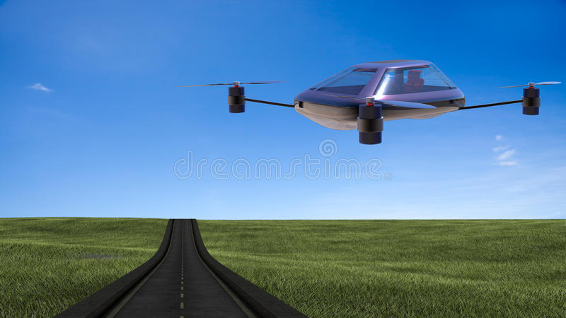 Most advanced four-axis manned vehicles stock images