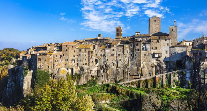 Most beauiful medieval villages of Italy -Vitochiano. (Viterbo province royalty free stock photography