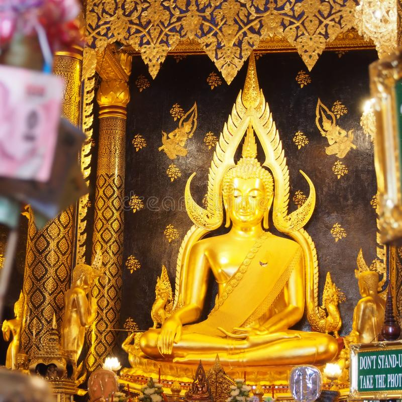 The most beautiful Buddha in Phisanulok,Thailand stock photography