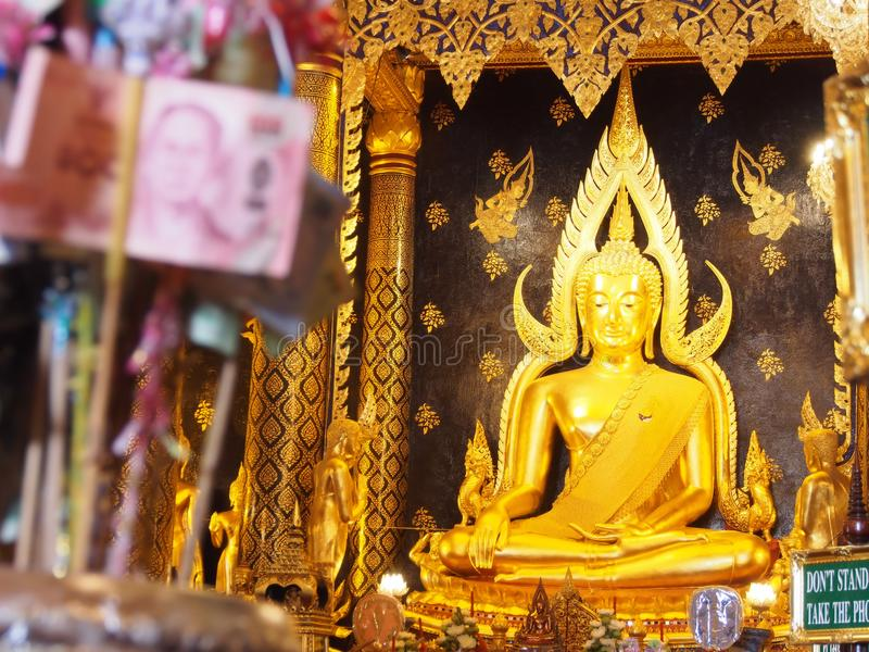 The most beautiful Buddha in Phisanulok,Thailand stock images