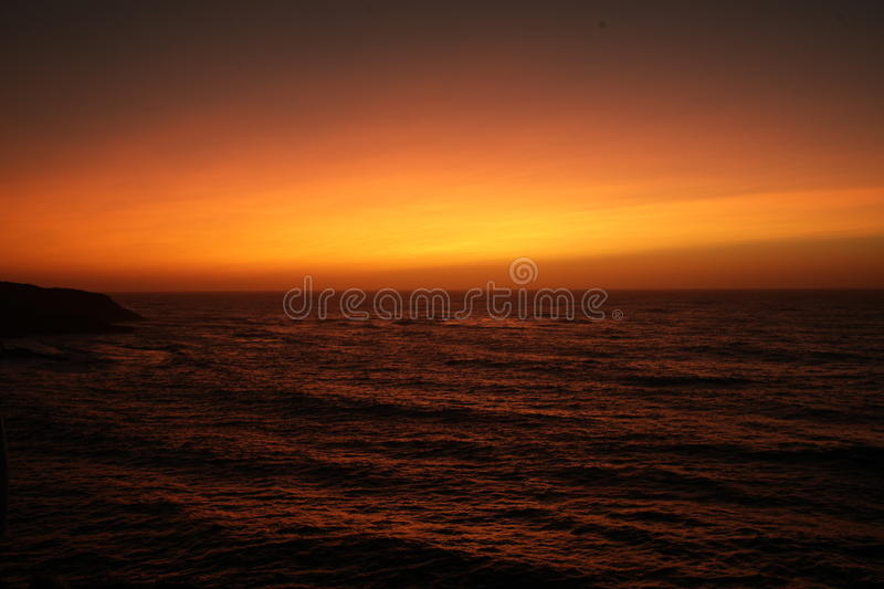 Sunset in Portugal royalty free stock image