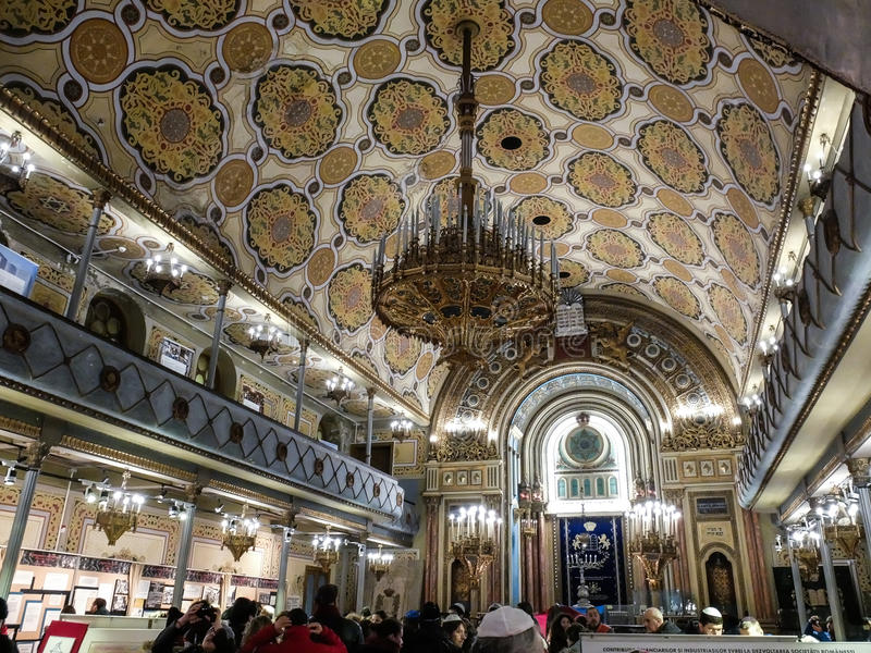 The most beautiful Synagogue in Bucharest royalty free stock photos
