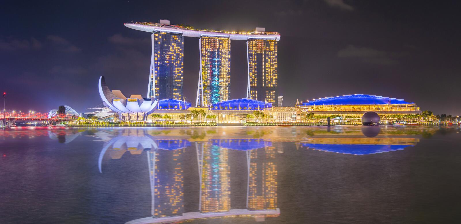 The most beautiful Viewpoint sunset in Singapore city royalty free stock photography