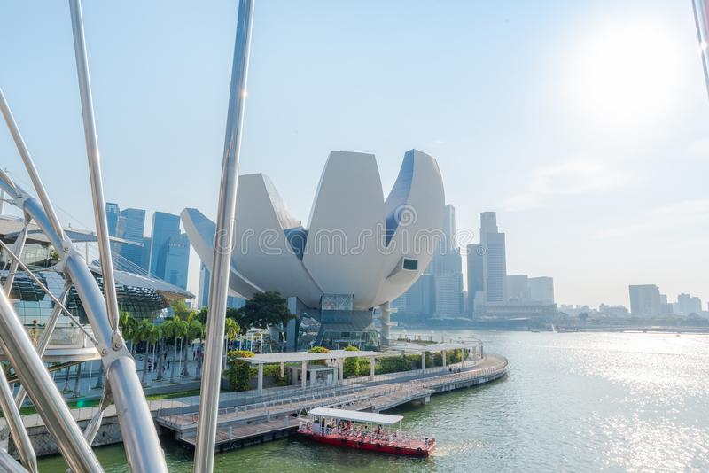 The most beautiful Viewpoint sunset in Singapore city stock images